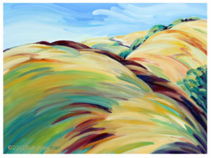 "Online Store Featured Item:     ""Active Hills"" – by Ruby Newman"
